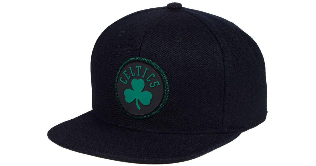 ffe4bed8ef8e0e ... reduced lyst mitchell ness boston celtics zig zag snapback cap in black  for men 38707 552b4