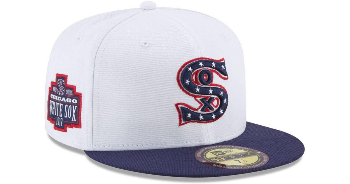 64eb271af3d Lyst - KTZ Chicago White Sox Ultimate Patch Collection World Series 59fifty  Cap in White for Men