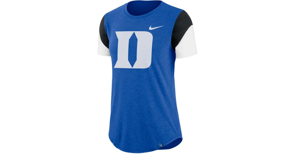 33695096b77 Lyst - Nike Duke Blue Devils Tri-blend Fan T-shirt in Blue for Men