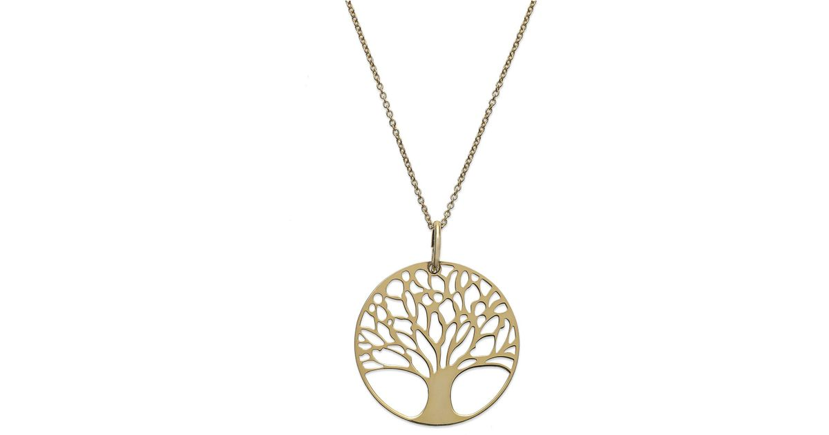 28f7ce159b Giani Bernini 24k Gold Over Sterling Silver Tree Of Life Pendant Necklace  in Metallic - Lyst