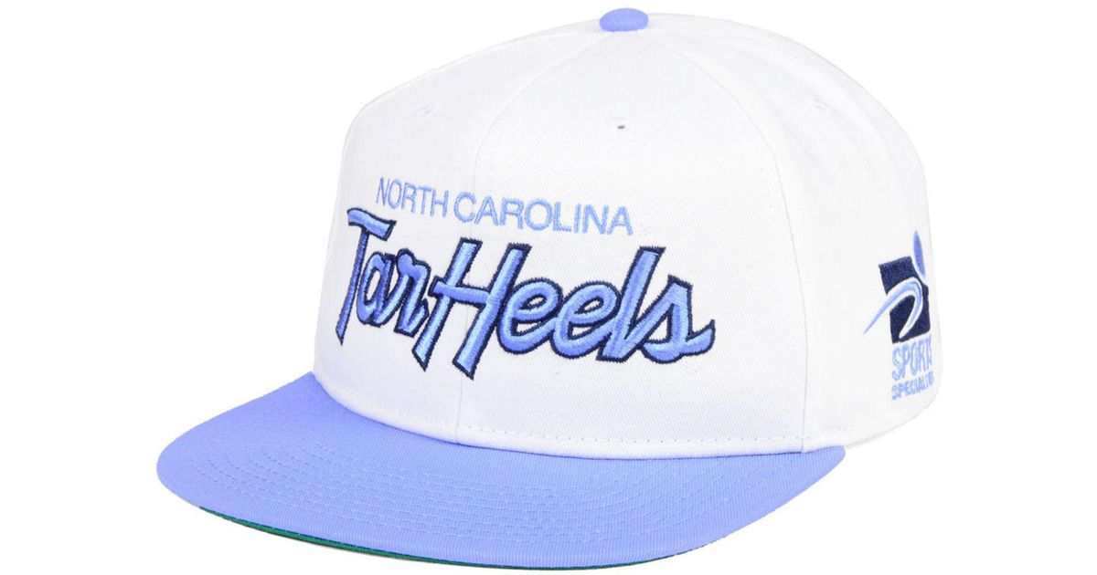 lowest price a15f9 6dc06 Nike North Carolina Tar Heels Sport Specialties Snapback Cap in White for  Men - Lyst