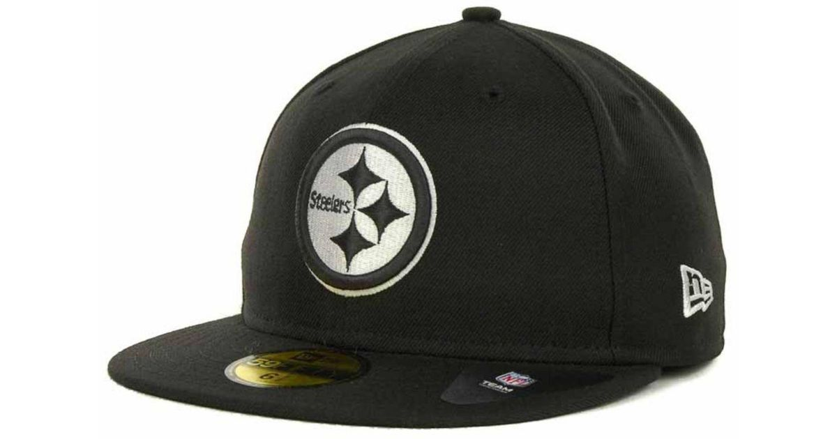 the best attitude 0c1ed 46753 ... release date lyst ktz pittsburgh steelers 59fifty cap in black for men  593bc 61566