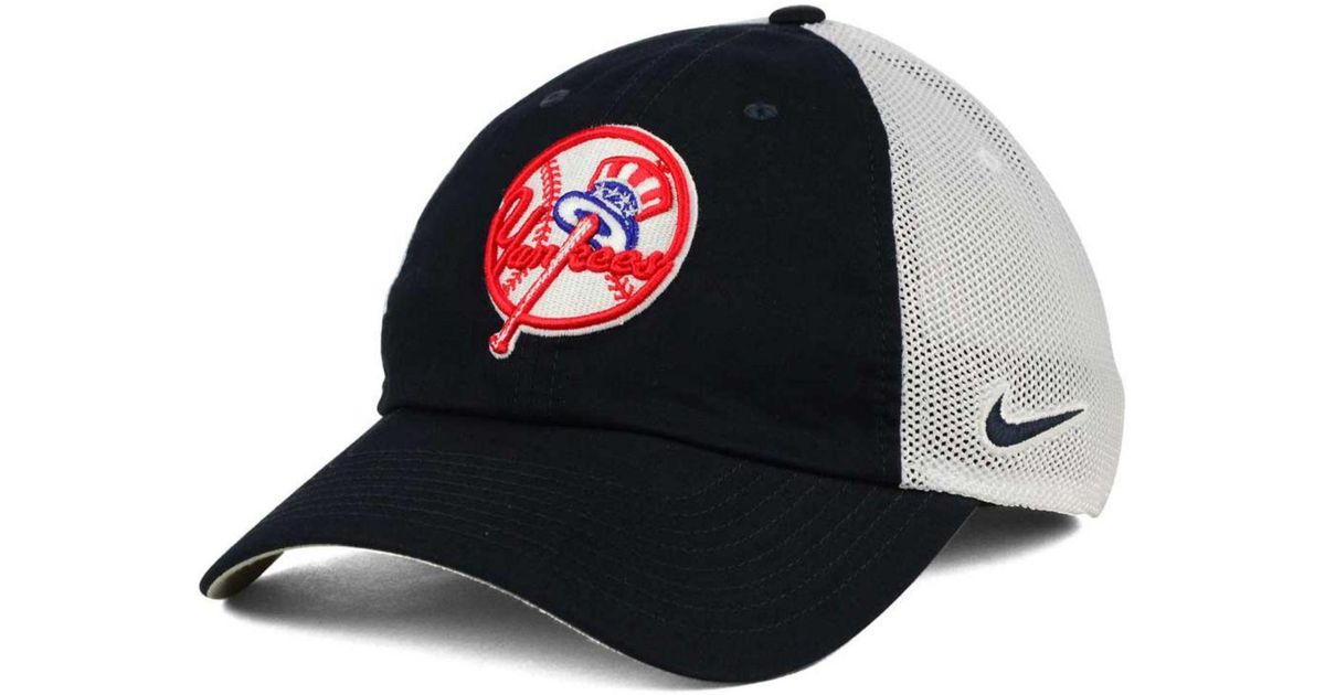Lyst - Nike New York Yankees Dri-fit Mesh Swoosh Adjustable Cap in Blue for  Men e7cf56e83144
