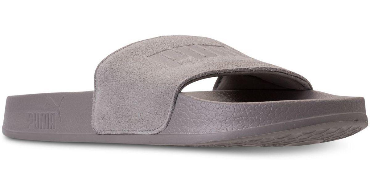 e80da17cdcd Lyst - PUMA Big Sean Leadcat Slide Sandals From Finish Line for Men