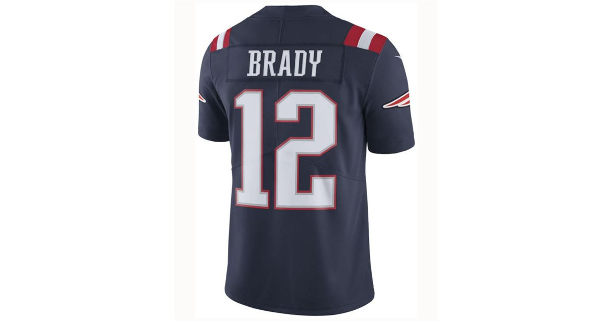 22576a255f8 hot lyst nike nfl new england patriots colour rush limited tom brady  american football jersey in