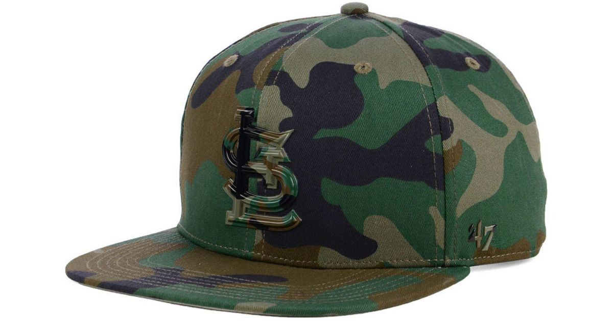 6f40f94f78f1d Lyst - 47 Brand St. Louis Cardinals Camo Snapback Cap in Green for Men