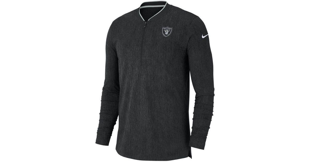 Lyst - Nike Oakland Raiders Coaches Quarter-zip Pullover in Black for Men 33ade8c7f