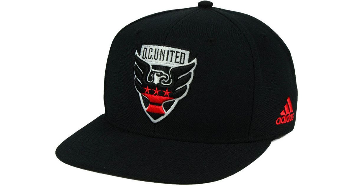 90d85c0e7bd ... sale lyst adidas dc united poly snapback cap in black for men f0948  5a964 ...