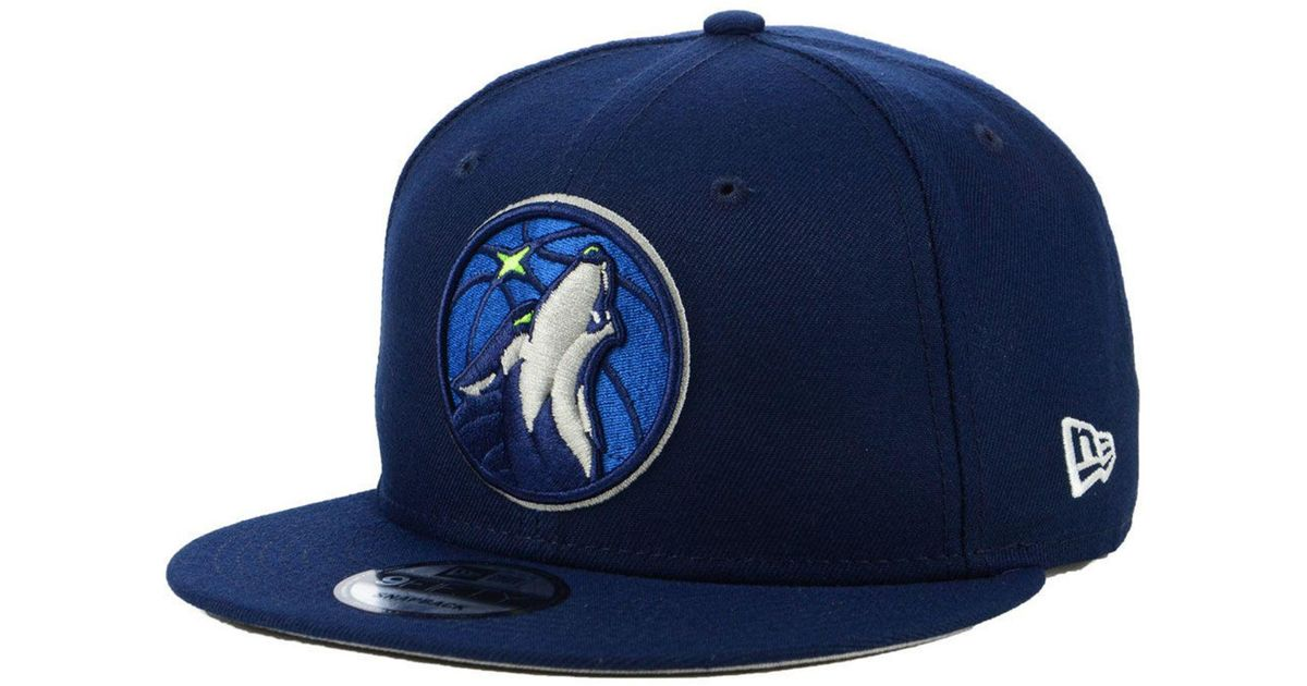 official photos fa8a0 9a6fb KTZ Minnesota Timberwolves Basic 9fifty Snapback Cap in Blue for Men - Lyst