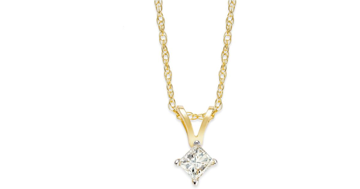 princess gold yellow cut pendant prong in g pendants on gi solitaire view diamond htm neck
