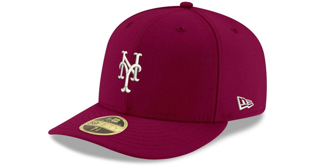 Lyst - KTZ New York Mets Low Profile C-dub 59fifty Fitted Cap in Red for Men f5c428d8680f