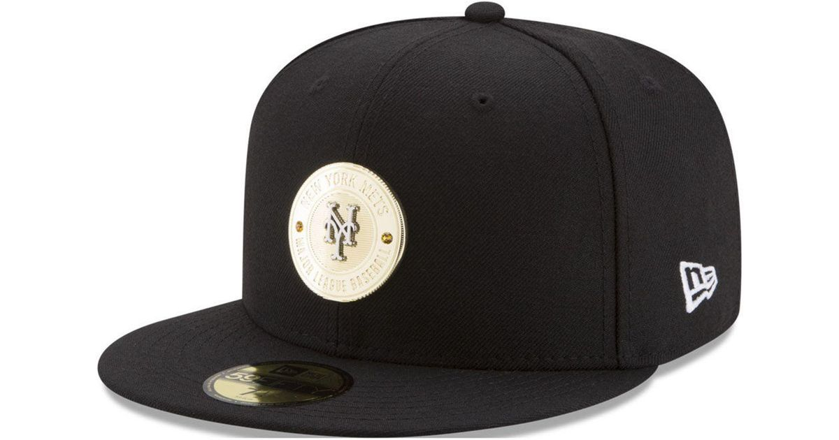finest selection 8d775 f9acb Lyst - KTZ New York Mets Inner Gold Circle 59fifty Cap in Black for Men