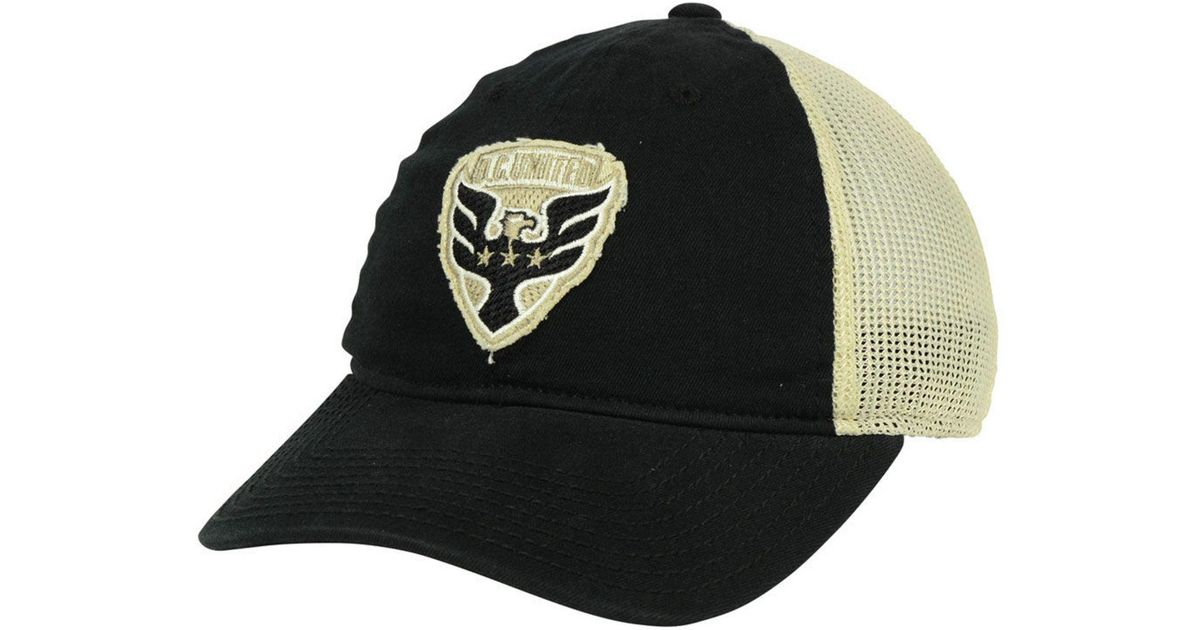 100% authentic 39f20 e7b5c ... mls penalty kick flex cap 5198a 0d91f  reduced lyst adidas dc united  bleached trucker cap in black c7a05 cc912