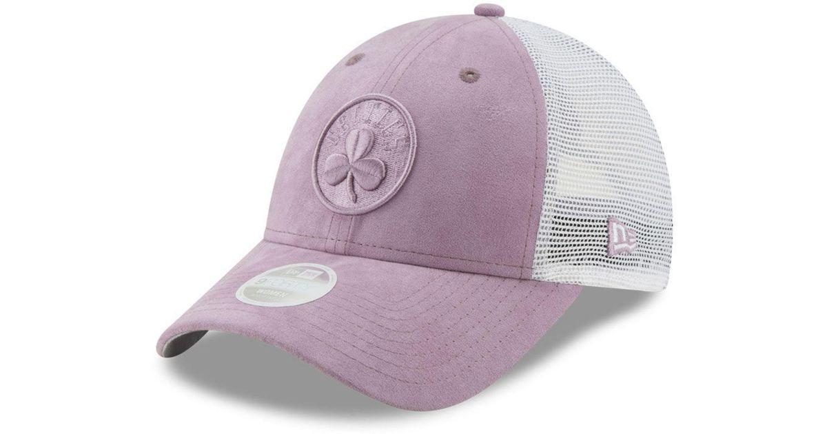 best sneakers 98268 e0a62 Lyst - KTZ Boston Celtics Suede Trucker 9forty Snapback Cap in Purple