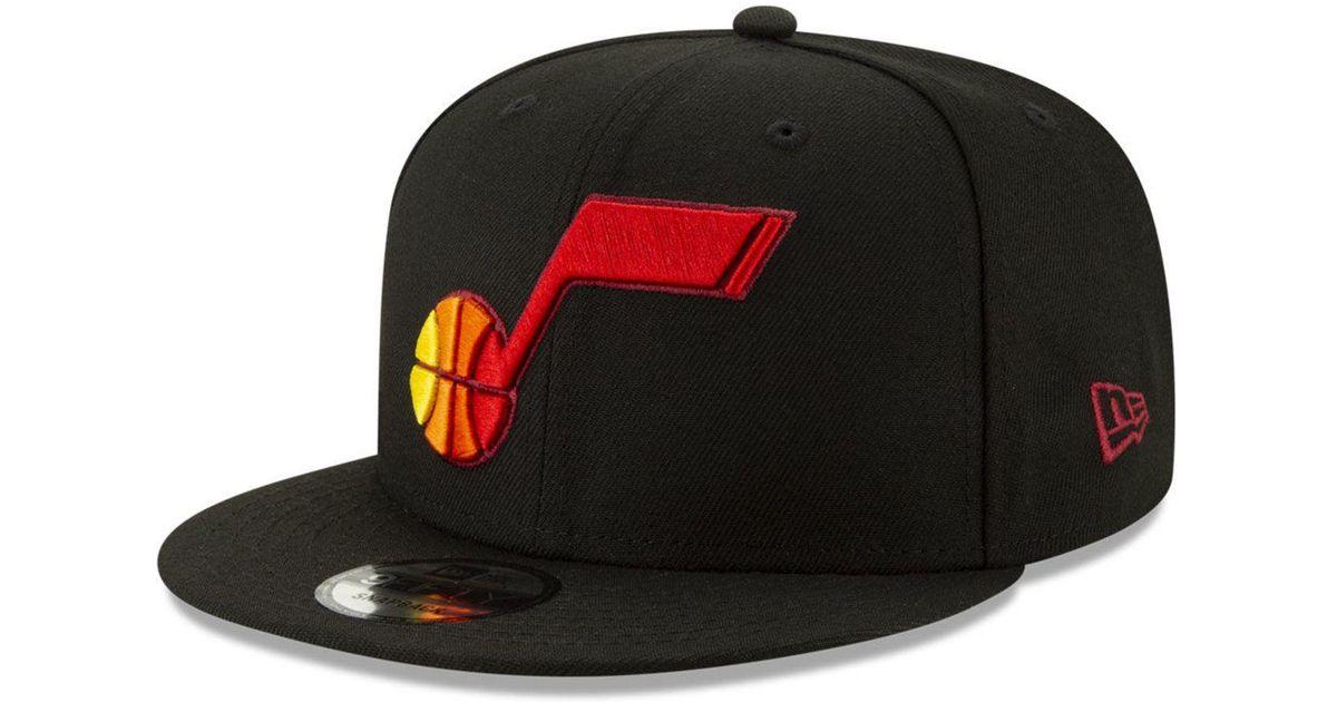 half off d7caa 05375 KTZ Utah Jazz City Pop Series 9fifty Snapback Cap in Black for Men - Lyst