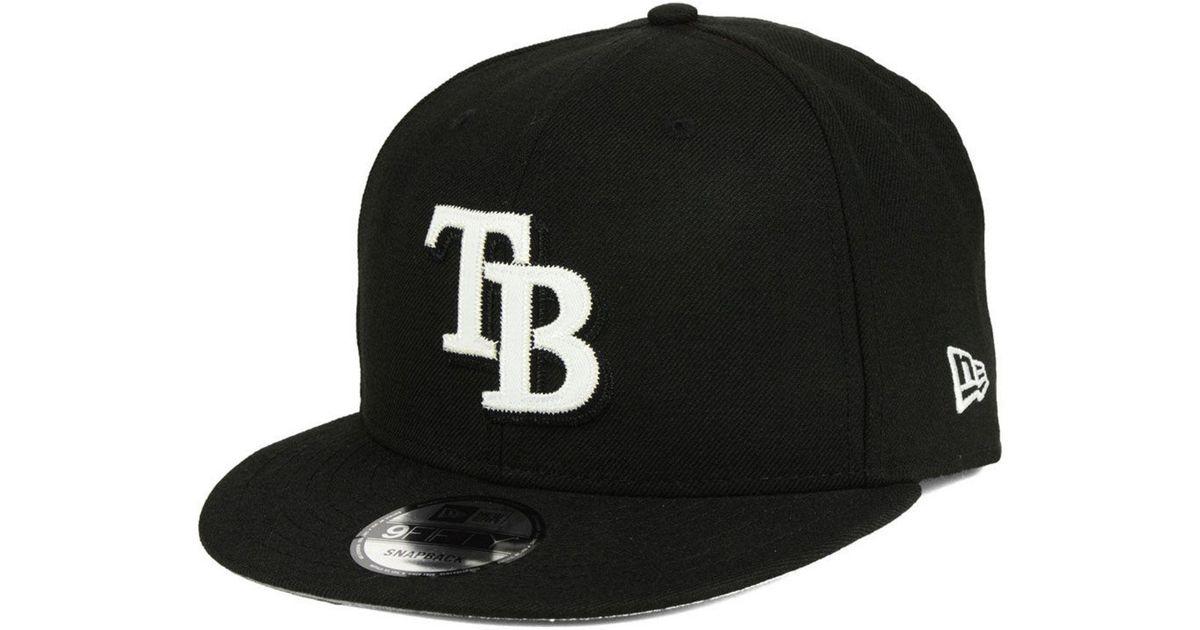 best loved 6ef73 52b3b Lyst - KTZ Tampa Bay Rays Jersey Hook 9fifty Snapback Cap in Black for Men