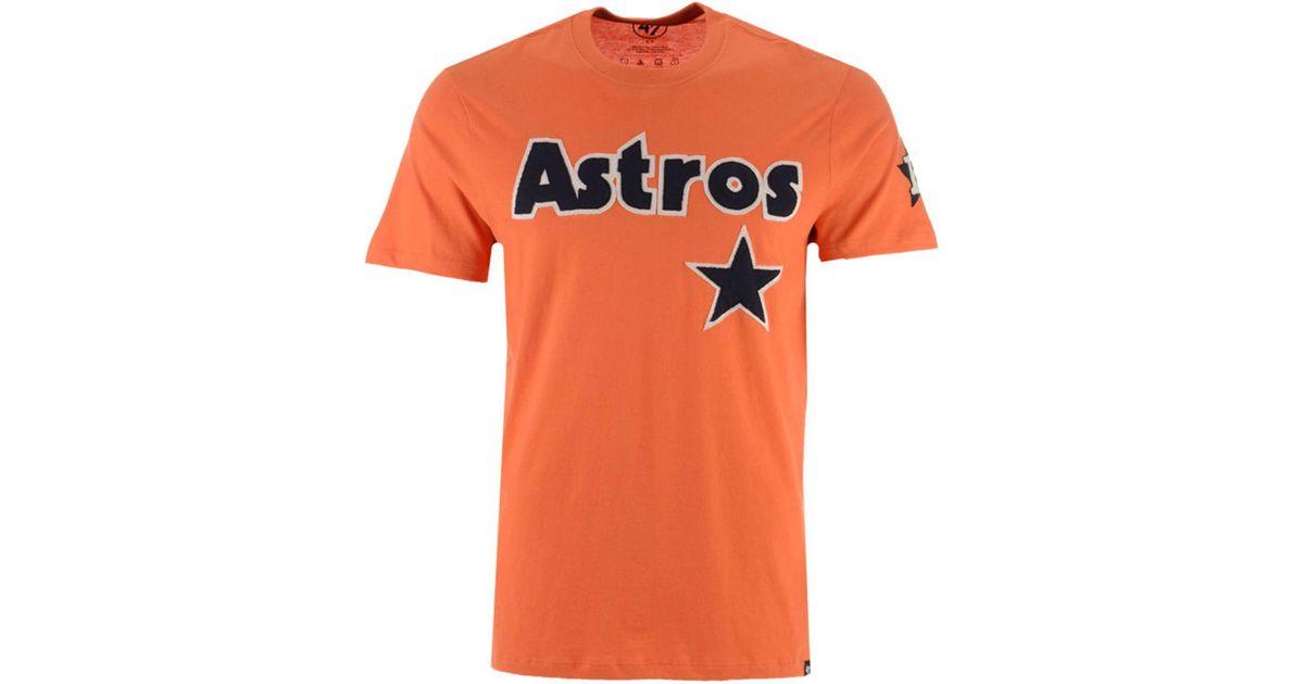 ca6b1e693d3d1 Lyst - 47 Brand Houston Astros Fieldhouse Basic T-shirt in Orange for Men