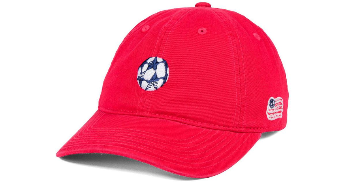 reputable site 19299 c571b Lyst - adidas New England Revolution Partial Logo Dad Cap in Red for Men