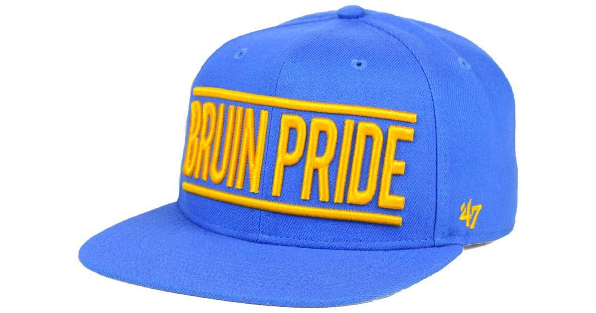 ea38964ce578b ... authentic lyst 47 brand ucla bruins on track snapback cap in blue for  men 80cd4 e39f3