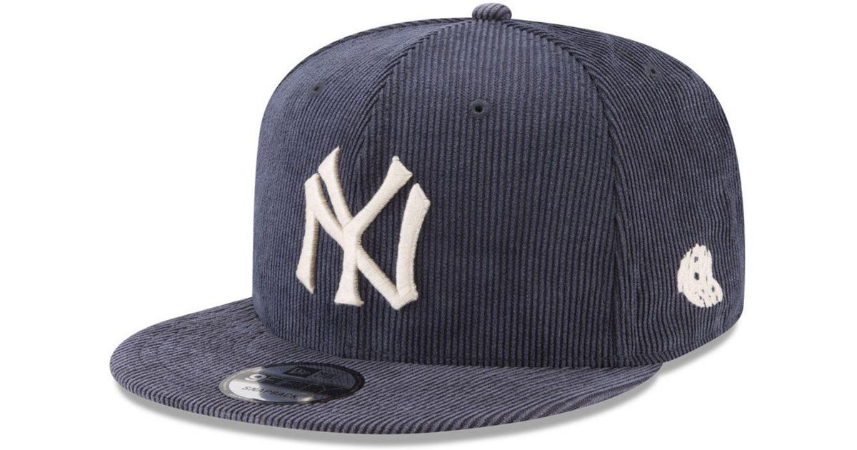 the latest ba252 e8cc2 KTZ New York Yankees All Cooperstown Corduroy 9fifty Snapback Cap in Blue  for Men - Lyst