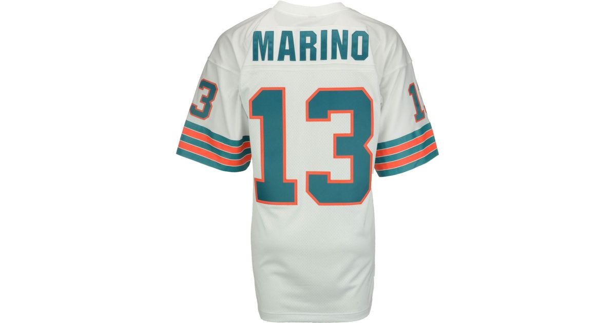 57c82742822 Lyst - Mitchell   Ness Men s Dan Marino Miami Dolphins Replica Throwback  Jersey in White for Men