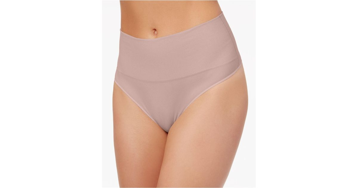 3d26de7fc5a Spanx - Multicolor Everyday Shaping Panties Thong Ss0815 - Lyst