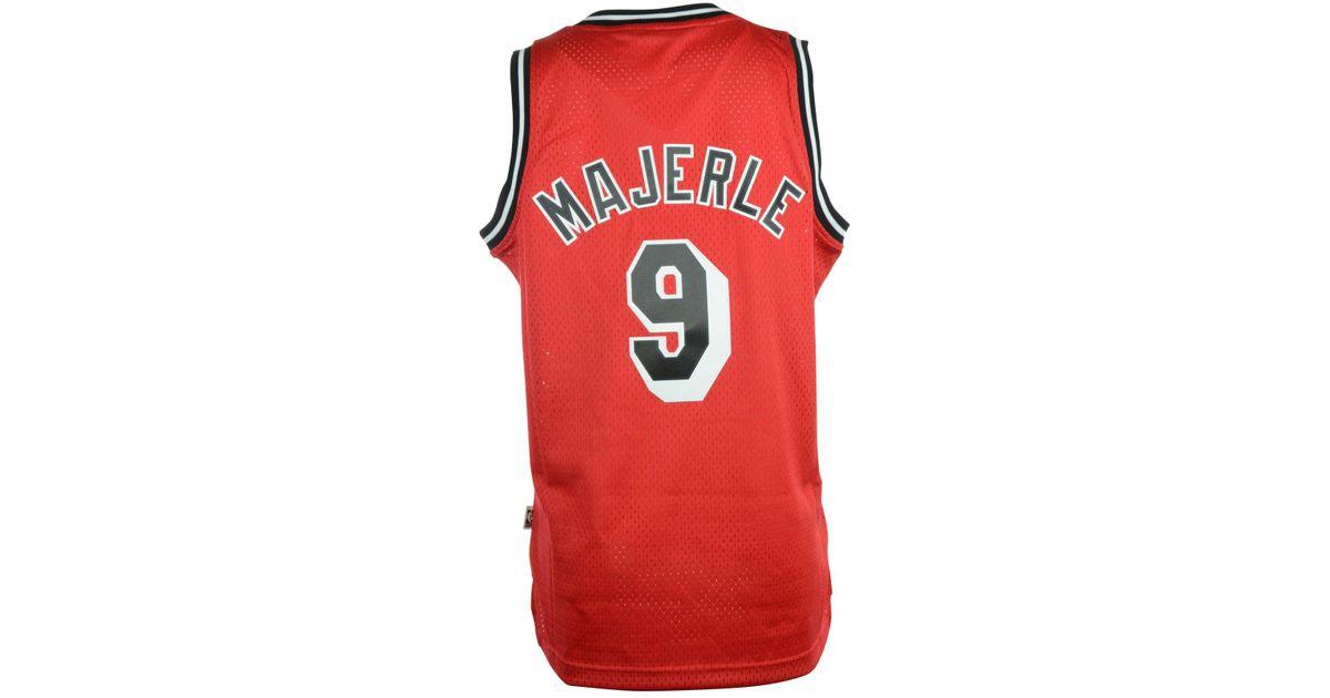 1883e700f ... hot lyst adidas mens dan majerle miami heat retired player swingman  jersey in red for men