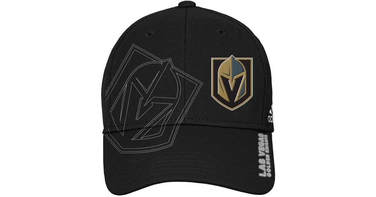 78f60899 adidas Vegas Golden Knights 2nd Season Flex Cap in Black for Men - Lyst