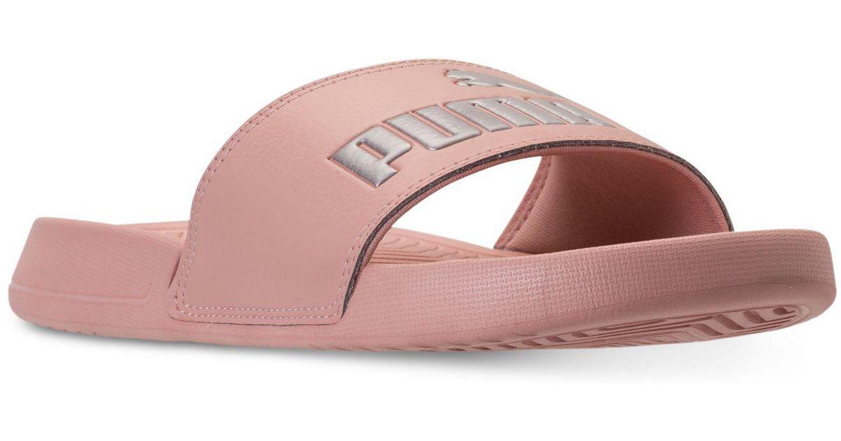 a3dd512642823b Lyst - PUMA Popcat Slide Sandal in Pink - Save 62%