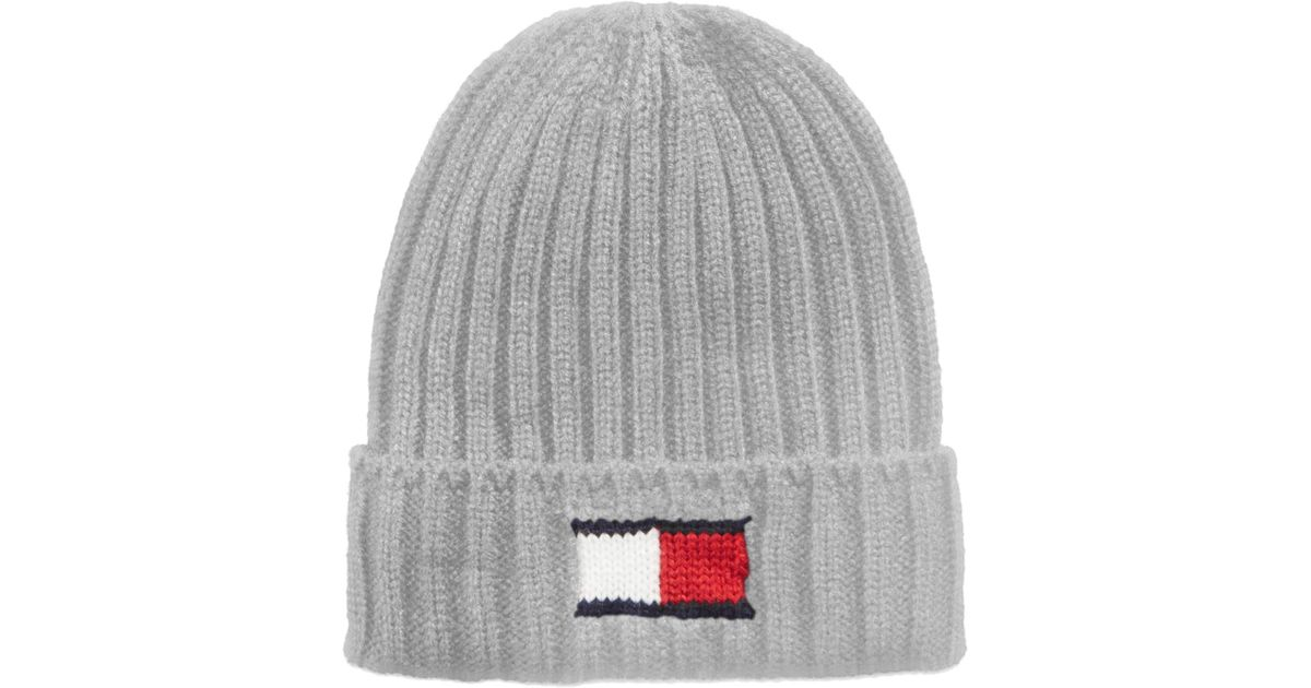 Lyst - Tommy Hilfiger Men s Logo Beanie in Metallic for Men 7bda4078bae