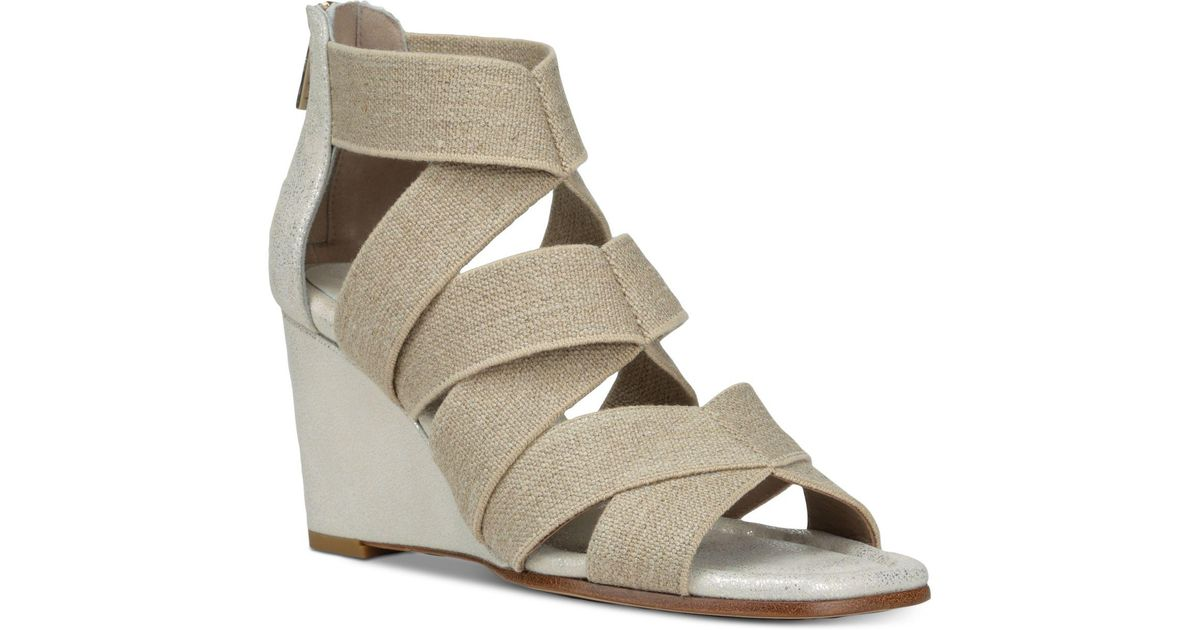 Donald Pliner Women's Lelle-Le Elasticized Cross-Strap Wedge Sandals wv50NBNjc1
