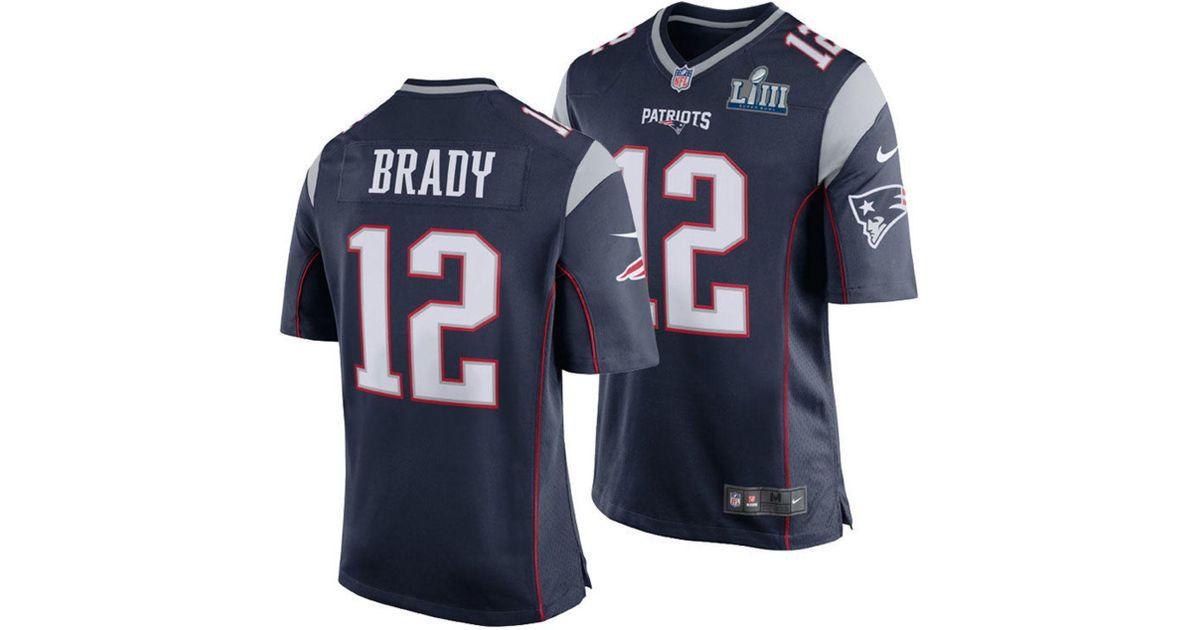 Wholesale Nike Tom Brady New England Patriots Super Bowl Liii Patch Game