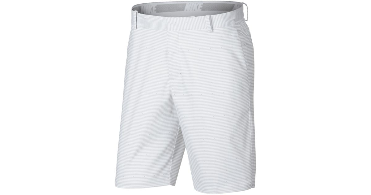 84ca1aee73431 Lyst - Nike Golf Flex Slim Printed Shorts in White for Men