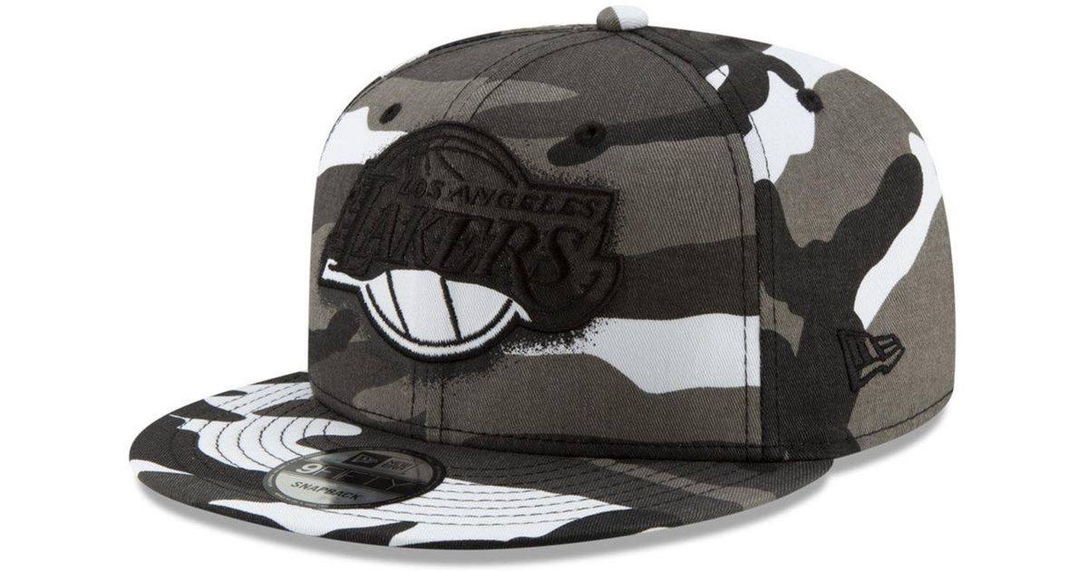 official photos 4e312 ad6c3 Lyst - KTZ Los Angeles Lakers Overspray 9fifty Snapback Cap in Gray for Men