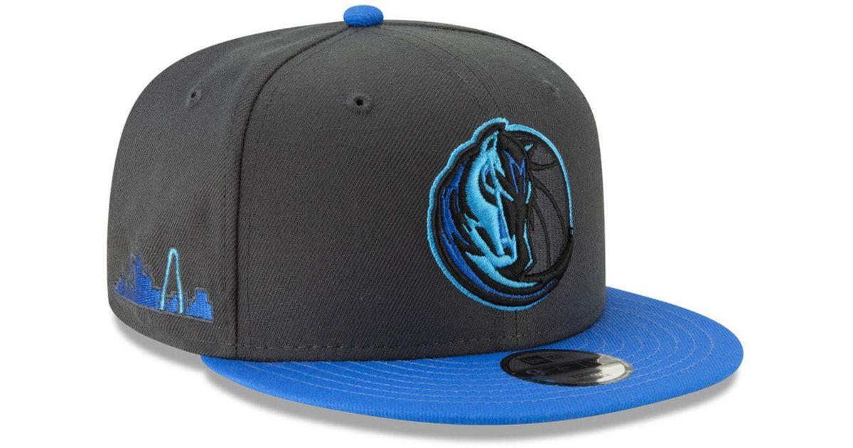 info for ff3e6 b7374 KTZ Dallas Mavericks City Series 2.0 9fifty Snapback Cap in Blue for Men -  Lyst