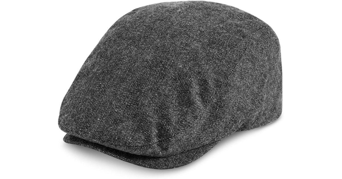b8bdf7c579040d Levi's Herringbone Flat Top Ivy Hat in Gray for Men - Lyst