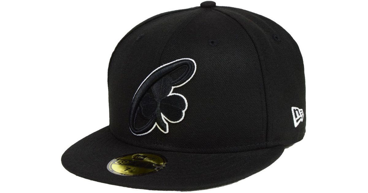 buy online 95df9 61786 ... switzerland lyst ktz boston celtics combo logo 59fifty fitted cap in  black for men 95f8d fb443