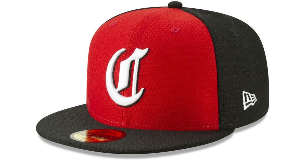 low priced 5a70f 29809 Lyst - KTZ Cincinnati Reds Batting Practice 59fifty-fitted Cap in Red for  Men