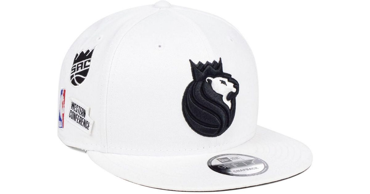 the latest 1d931 7c837 Lyst - KTZ Sacramento Kings Night Sky 9fifty Snapback Cap in White for Men