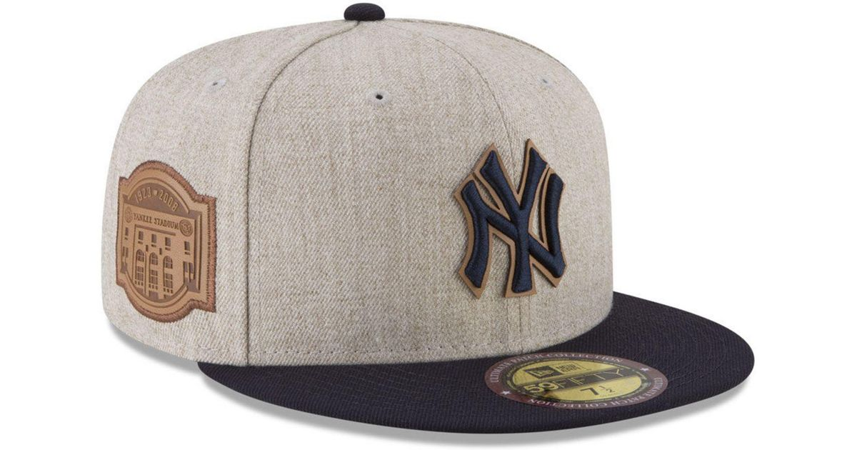 4428a7f8590 Lyst - KTZ New York Yankees Leather Ultimate Patch Collection 59fifty  Fitted Cap for Men