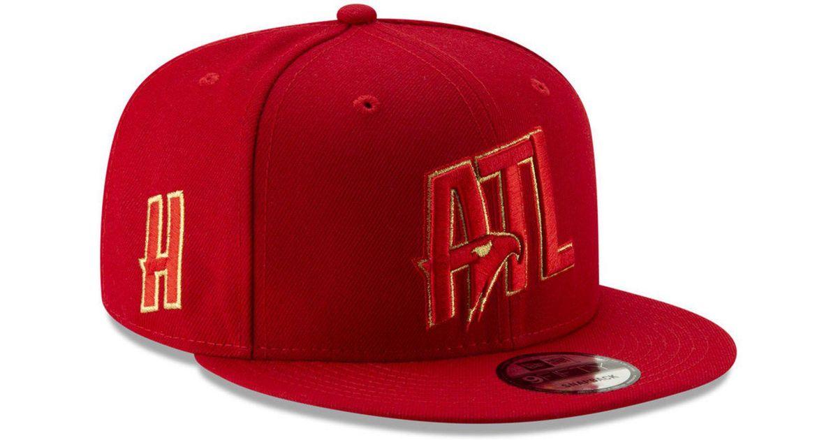 buy popular b75b1 f3030 Lyst - KTZ Atlanta Hawks Mishmash 9fifty Snapback Cap in Red for Men