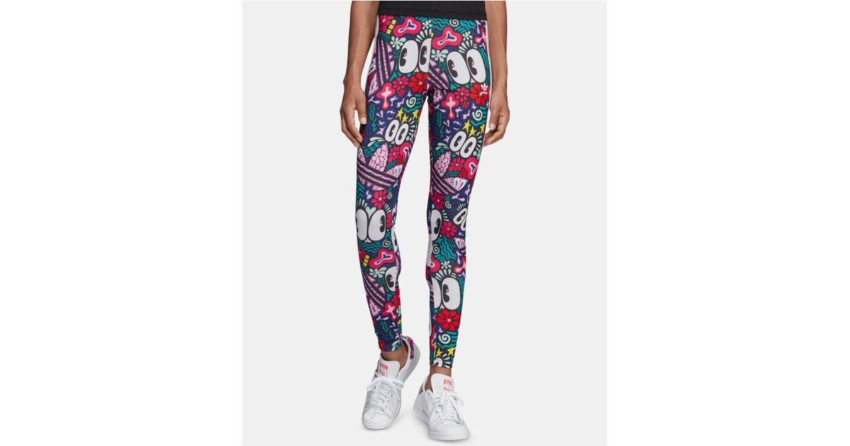 63f43503811 adidas Originals Adicolor Cotton Printed Leggings - Save 33% - Lyst