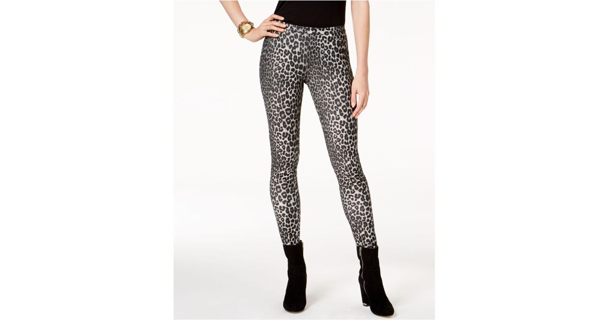 f26810958e2e Michael Kors Leopard-print Leggings in Black - Save 24% - Lyst