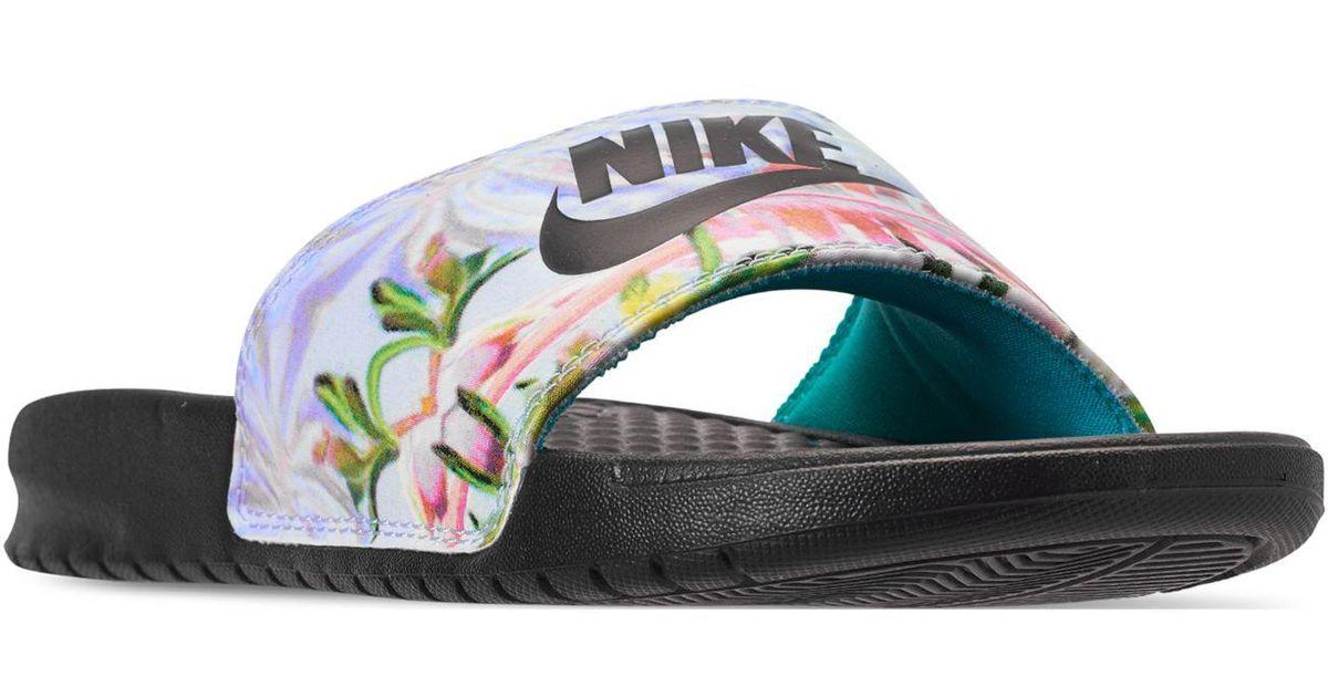 ed0243a255d6 Lyst - Nike Benassi Jdi Floral Slide in Black - Save 15%