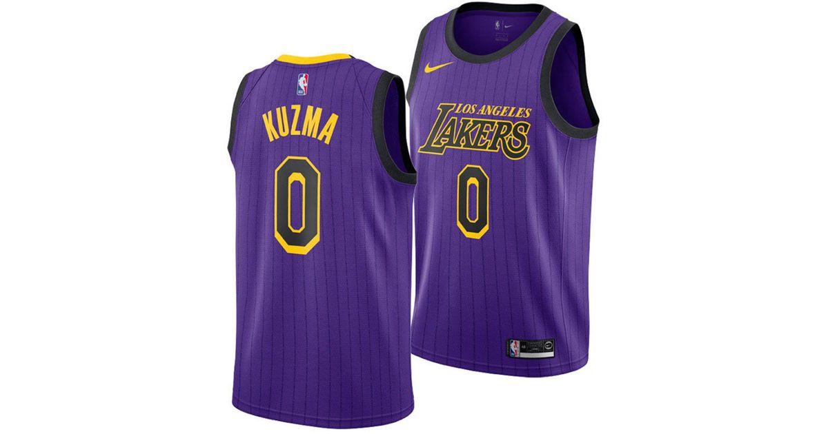 c26f8f6a1 Lyst - Nike Kyle Kuzma Los Angeles Lakers City Swingman Jersey 2018 in  Purple for Men