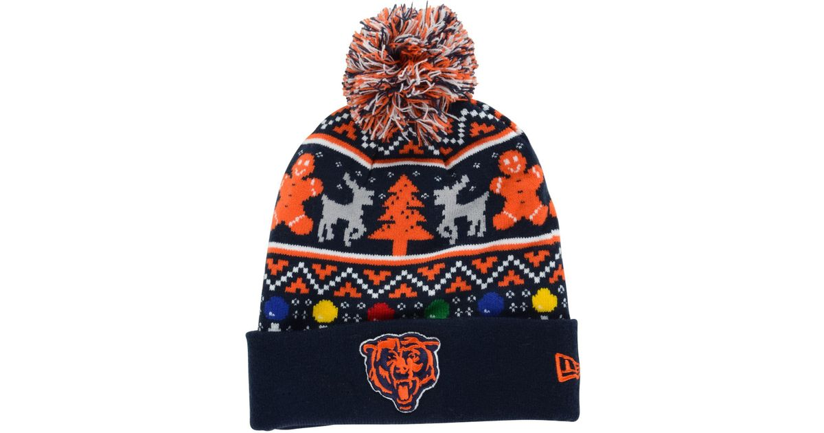 Lyst - KTZ Chicago Bears Christmas Sweater Pom Knit Hat for Men ebe643414ec