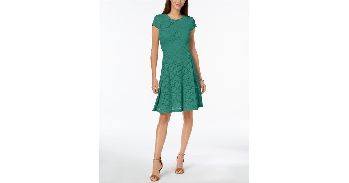 1a144b5370e9 Lyst - Alfani Petite Lace Fit & Flare Dress, Created For Macy's in Green