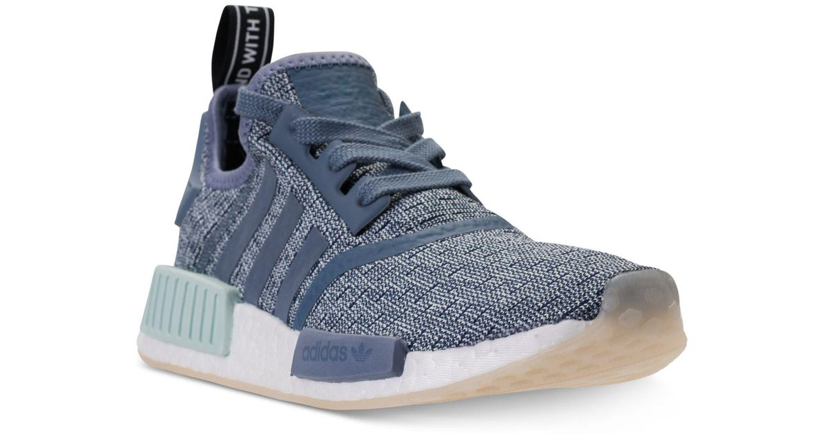 db4f3b16e30bb Lyst - adidas Nmd R1 Casual Sneakers From Finish Line in Blue