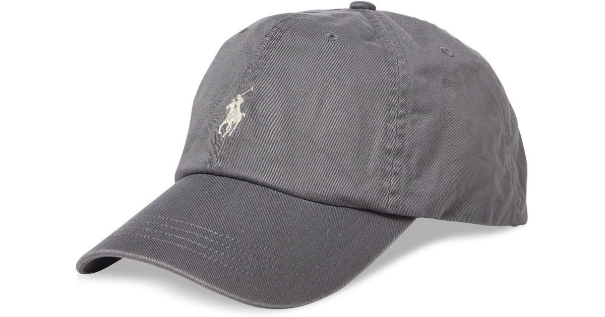 d752811a5 Lyst - Polo Ralph Lauren Men s Chino Sports Cap in Gray for Men