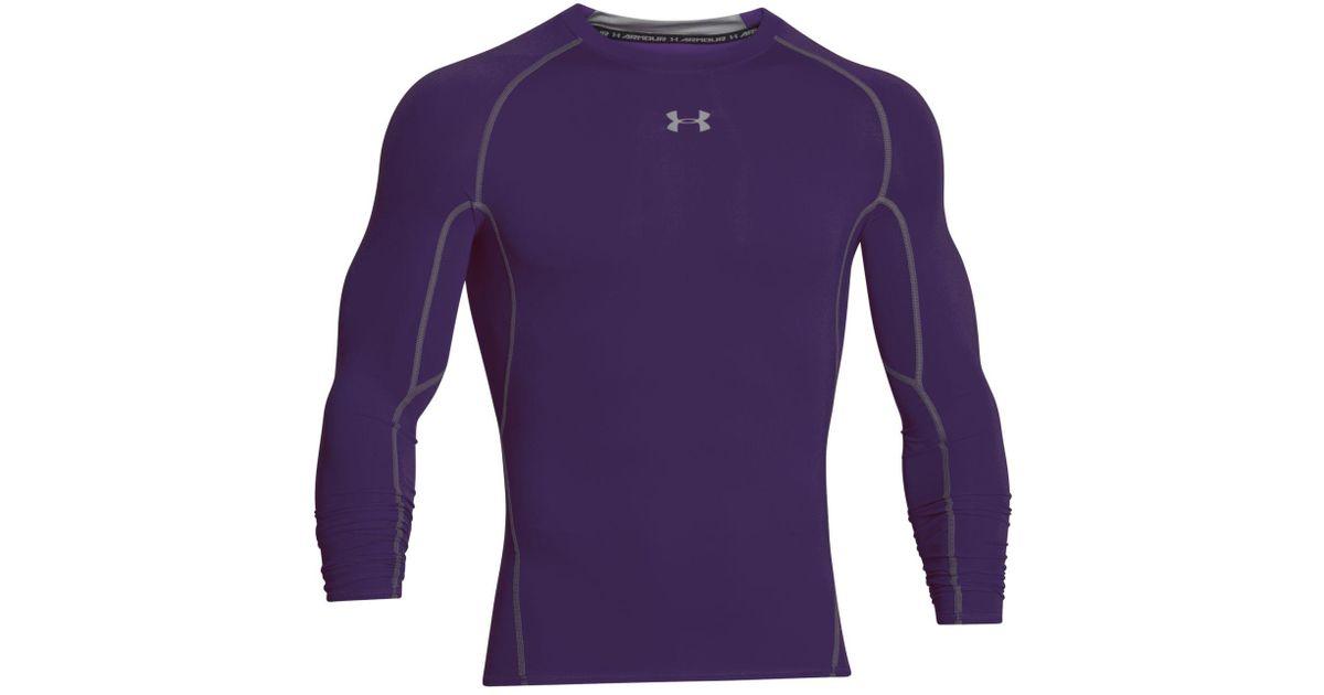 Lyst - Under Armour Men s Heatgear® Long-sleeve Compression Shirt in Purple  for Men 3587d63751ac